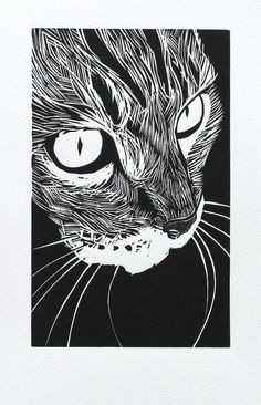 woodcut 'tabby' |  by Peter Polaine    Flickr - Photo Sharing!