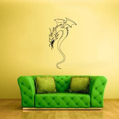 Wall Vinyl Decal Sticker Bedroom Decal Wall Decal Dragon z304