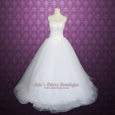 Vera Wang White Inspired Timeless Princess Strapless Tulle A-line Wedding Dress