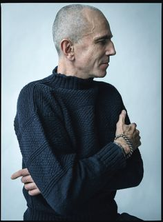 Love the character and honesty of this Daniel Day-Lewis, photographed in New York. All clothing his own.