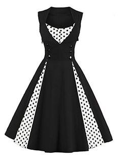 dbfb5628bcf Women's Retro Vintage Cocktail Dress - Plus Size Long Sle... https:/.  Sleeveless ...