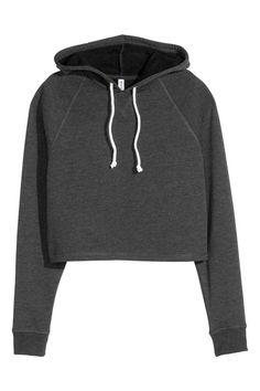Crop Hoodie ($75) ❤ liked on Polyvore featuring tops, hoodies ...