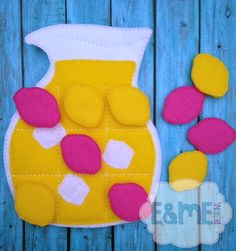 Lemonade Tic Tac Toe Embroidery Design - 5x7 or Larger - E&Me Designs