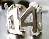 Date Ring -  Personalized Custom Sterling Silver ANNIVERSARY or Special Date