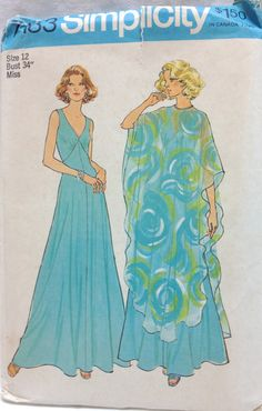Vintage 1970s Simplicity Easy Sewing Pattern Size by ResourceQueen, $3.00