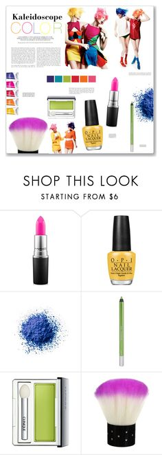 """Kaleidoscope Color"" by artplusdesign ❤ liked on Polyvore featuring beauty, MAC Cosmetics, OPI, Urban Decay, Clinique, Matteo, contest, contestentry and beautyset"