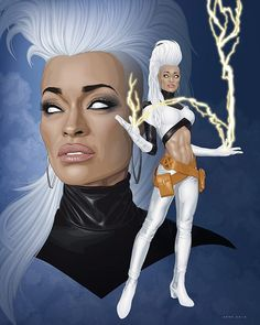 """Storm"", illustrated by @ratscape, based on imagery from @aliciamariebody ✴ PLEASE TAG THE ARTIST WHEN REPOSTING THIS ART ON YOUR PAGE ✴ #marvelmancy #marvelart #marvelfan #marvellegends #marvelcomic #xmen #thexmen #storm #ororo #ororomunroe #ororomonroe #mutant #mutants #blackart #marveluniverse #superheroes #blacksuperhero #dopeart #afroart #afrocentric #africanart #superheroart #africanamericanart #fantasyart #fantasy #ilovefantasyart #nubiamancy #frohawk #blackgirl #blackgirls"