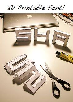Police pour fabriquer des lettres en 3D