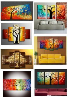 Multi Canvas Painting, Living Room Canvas Painting, Canvas Paintings For Sale, Tree Of Life Painting, Canvas Art For Sale, Abstract Canvas Wall Art, Hand Painting Art, Living Room Paint, Online Painting