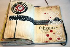 Donna Downey journal collage