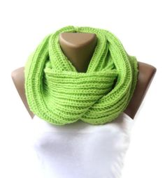 infinity knitted women scarf  women scarf  hand knitted by seno, $30.00