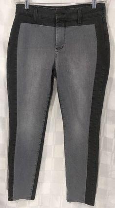 Not Your Daughters Jeans Women's Legging Panel Black Gray Stretch Lift Tuck 10 #NYDJ #LeggingsSlimSkinnyPanel