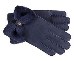 Lammfell-Handschuhe Classic Bow Shorty