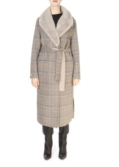 This is the 'Cardiff' Reversible Check Grey Coat With Detachable Mink Collar by our friends at Suprema! Distinguished by its...