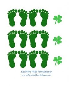 Leprechaun printable feet