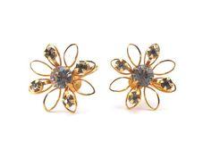 Bugbee and Niles Rhinestone Earrings by GreyTreeFrog on Etsy
