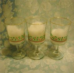 AtMemoryLane, I have these Libbey Christmas glasses for you to consider…