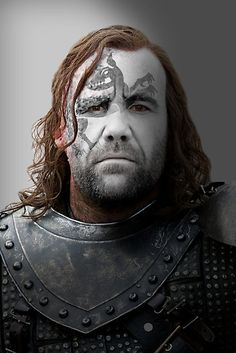 The Hound Sandor Clegane House War Paint by HilaryHeffron