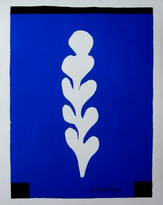 Serigraph on a heavyweight ragpaper of Art by Henri MATISSE titled : White palm on blue bottom, carried out after a cut-out gouache of We also propose for sale a large choice of original works of Art and reproductions by contemporary artists Henri Matisse, Matisse Art, Most Expensive Painting, Matisse Cutouts, Dutch Painters, Post Impressionism, Aboriginal Art, Vincent Van Gogh, Art Forms