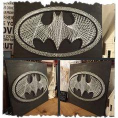 Custom Made Batman String Art by UniquelyWound on Etsy