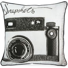 Graham & Brown Snapshots Pillow ($40) ❤ liked on Polyvore featuring home, home decor, throw pillows, vintage throw pillows, vintage home decor and graham & brown