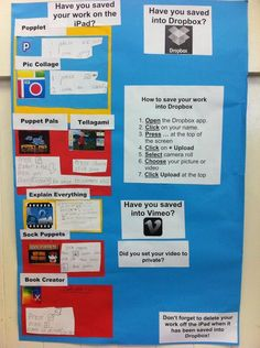 Workflow for yr 2 students using iPad