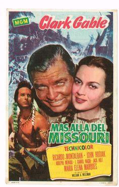 """El Acorazado Cinéfilo - Le Cuirassé Cinéphile: Programas de mano: """"Más allá del Missouri"""" (1951)...."""
