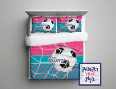 Custom Soccer Comforter or Duvet Soccer by PAMPERYOURSTYLE