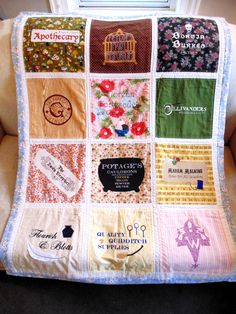 Diagon Alley Harry Potter Embroidered Quilt - NEEDLEWORK
