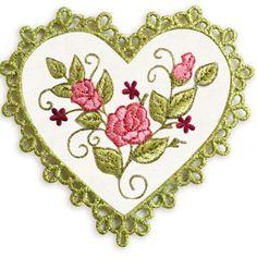 heartcoaster1 - Pretty Heart Coaster Machine Embroidery Design