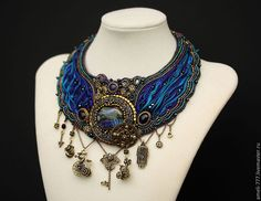 Seed Beadwork and Shibori by Irina Rudneva Ribbon Jewelry, Soutache Jewelry, Bead Jewellery, Fabric Jewelry, Beaded Jewelry, Beaded Necklace, Bead Earrings, Bead Embroidered Bracelet, Bead Embroidery Jewelry