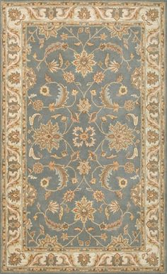 Volare VO 1427 Light Blue Cream by Rizzy Rugs