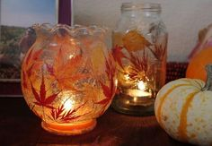 Fallen Leaf Lanterns | Make these adorable leaf lanterns with the kids this fall!