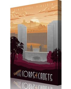 Share Squadron Posters for a 10% off coupon! Virginia Tech Corps of Cadets vintage poster #http://www.pinterest.com/squadronposters/