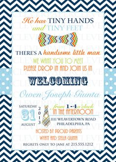 Sip and see sip see pinte bow tie sip and see invitations for boys navy and orange chevron stripe little man party printed baby shower invites with envelopes m4hsunfo