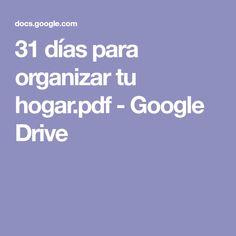 31 días para organizar tu hogar.pdf - Google Drive