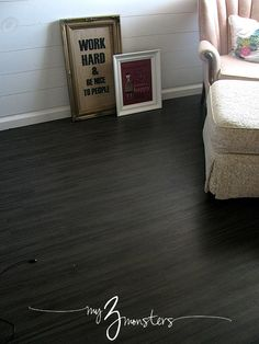 My 3 Monsters: {31 Days to a Brand New Room} Day 6: Vinyl Plank Flooring #DIY #31days