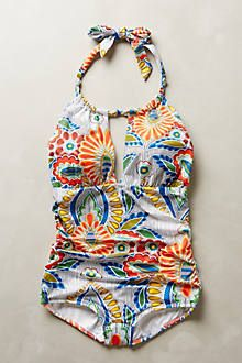 Seafolly Vintage Vacation Halter Top - anthropologie.com