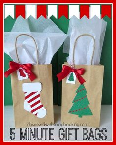 Obsessed with Scrapbooking: [Video]5 Minute Christmas Holiday Gift Bags with CTMH Close to My Heart Art Philosophy