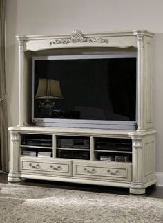 Monte Carlo II Entertainment Unit - Silver Pearl, AICO, Monte Carlo II Collection | Home Gallery Stores