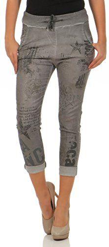 27cda8876395 Angesagte Jogg Jeans im Denim Look. Die Hose hat Applikationen und  Aufdrucke die ein ...