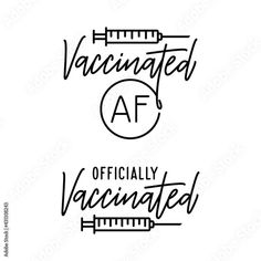 Vaccianted slogan t-shirt design. Vaccine related typography. Vector illustration. Stock Vector | Adobe Stock