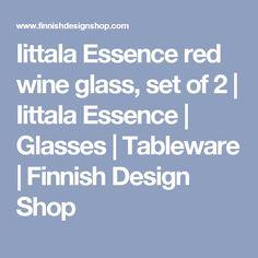 Iittala Essence red wine glass, set of 2 | Iittala Essence | Glasses | Tableware | Finnish Design Shop