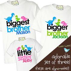 So cute! matching sister brother sibling shirts set of three by zoeysattic, $48.00