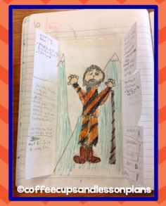 Otzi the Iceman -what a fun interactive notebook entry.