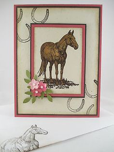 """Stampin Up """"Horse Frontier"""" Handmade Any Occasion Card"""
