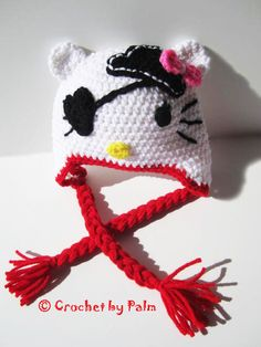 Pirate Hello Kitty -  Made to order. $20.00, via Etsy.