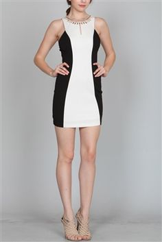 Jeweled Neck Dress Available at www.shop-plume.com