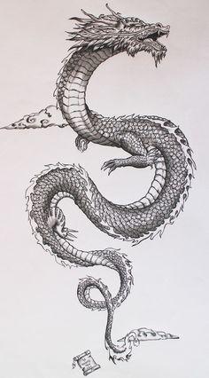 """Résultat de recherche d'images pour """"dessin de dragon pour tatouage"""""""