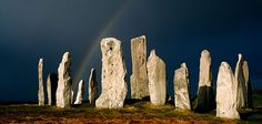 Calanais, the standing stone pillars in the Outer Hebrides of Scotland that rivals Stonehenge Oh The Places You'll Go, Places To Travel, Places To Visit, Cairns, Outer Hebrides, Stonehenge, Serenity, The Good Place, Beautiful Places